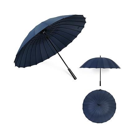 FROM Sombrilla de Mango Largo Doble XL Reforzada 24 Huesos Paraguas al Aire Libre a Prueba
