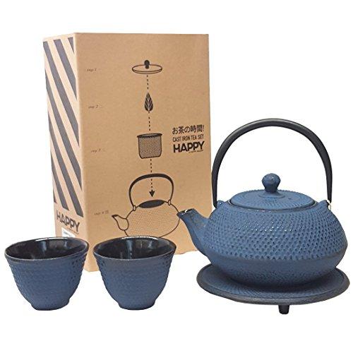 cast iron blue teapot - 4