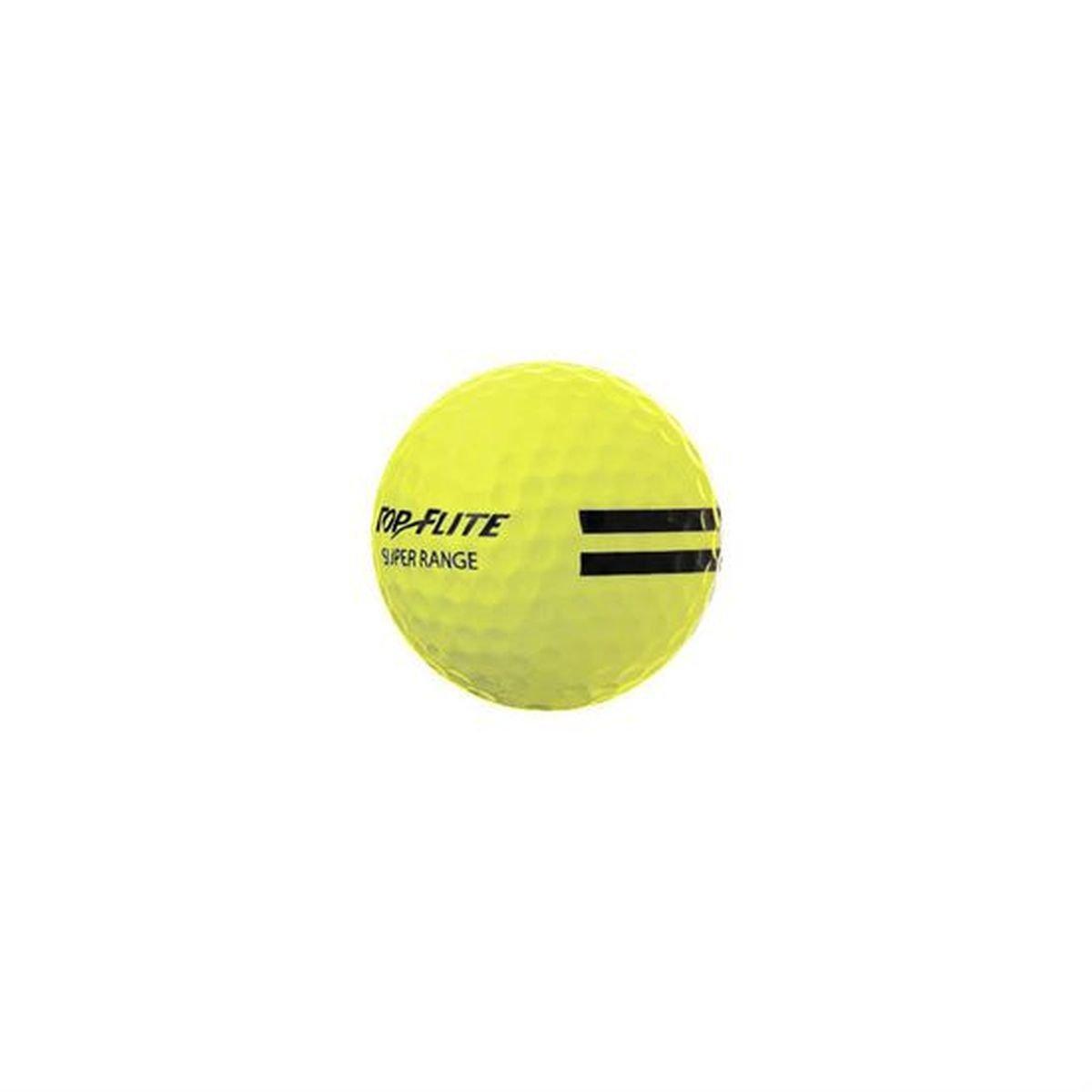 24 Pack Top Flite Super Range Golf Balls - Yellow by Top Flight