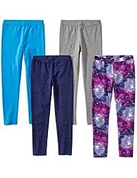 1457729381e7b1 Amazon Brand - Spotted Zebra Girls' Toddler & Kids 4-Pack Leggings