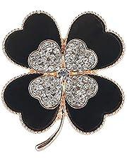 TULIP LY Created Crystal Brooch Crystal Rhinestone Rose Flower Fashion Pin Gift Women Girls Rose Gold