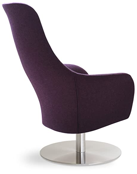 Soho Concept PierreLR SS DMCW Pierre Loti Round Armchair With Stainless  Steel Base,