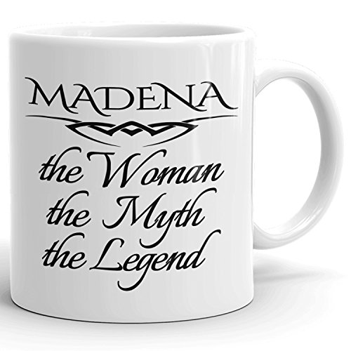 Best Personalized Womens Gift! The Woman the Myth the Legend - Coffee Mug Cup for Mom Girlfriend Wife Grandma Sister in the Morning or the Office - M Set 8
