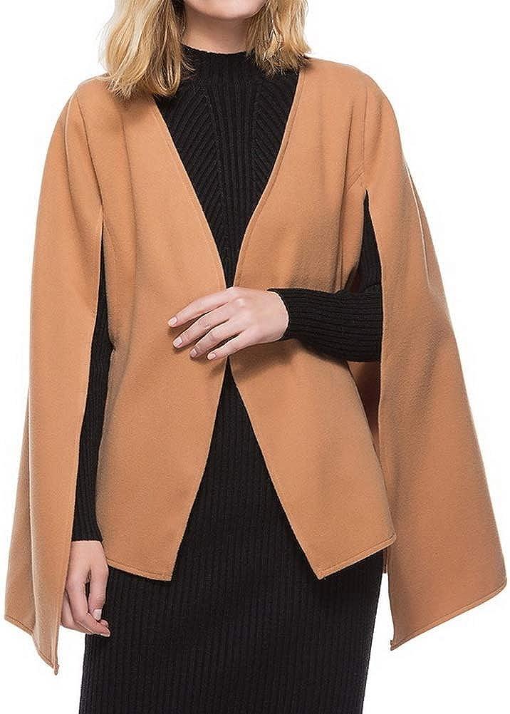 BIUBIONG Womens Elegant Duffle Coat Jacket Poncho Luxe Trim Winter Parka