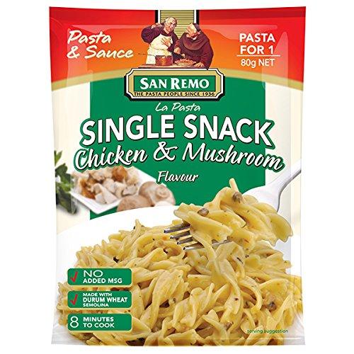 San Remo, La Pasta, Pasta & Sauce, Single Snack, Chicken & Mushroom Flavour, 80 g (Pack of 3 pieces) / Beststore by KK8