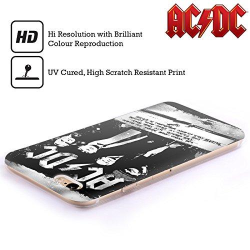 Officiel AC/DC ACDC Rock Ou Buste Paroles Étui Coque en Gel molle pour Apple iPhone 4 / 4S