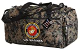 Us Military Official Licensed Duffle Gym Luggage Bag (US Marines Camo)
