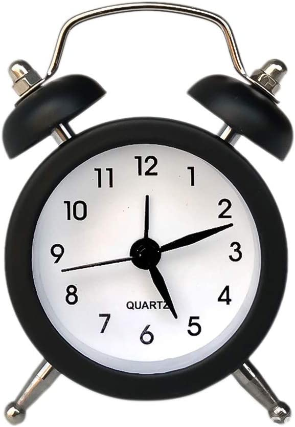 Souarts 50mm Mini R/éveil Cloche R/éveil Analogique Horloge de Bureau Chambre /À Coucher