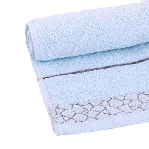 Amazon.com: eDealMax 100% Algodón Mezcla Inicio Baño Suavidad absorbencia DE 2 piezas juego de toallas Azul: Home & Kitchen