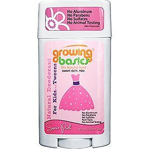 GrowingBasics Deodorant for Kids Sweet Girl, Pink