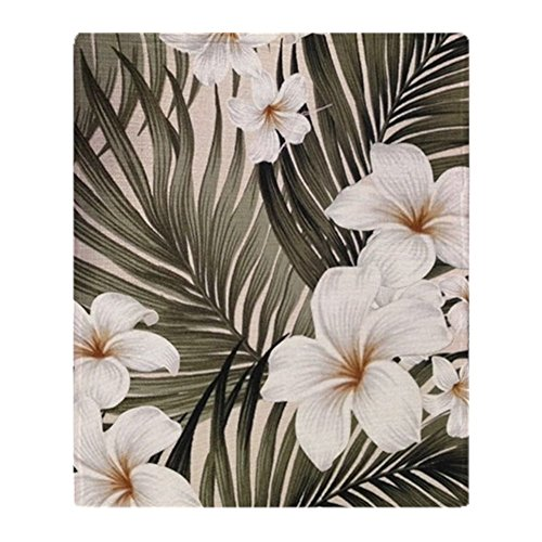 CafePress - Hibiscus Hawaii Retro Aloha Print - Soft Fleece Throw Blanket, 50
