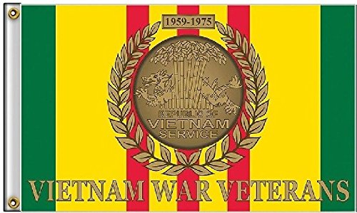 (ALBATROS 3 ft x 5 ft Vietnam Vet War Veterans Veteran Ribbon 1959-1975 Flag Banner Grommets for Home and Parades, Official Party, All Weather Indoors Outdoors)
