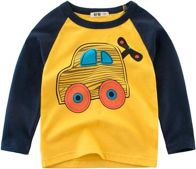 PAUBOLI 2T-8T - Camiseta de Manga Larga para niño (algodón ...
