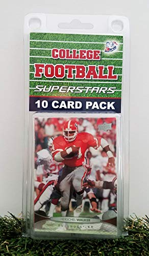 Georgia Bulldogs- (10) Card Pack College Football Different Bulldog Superstars Starter Kit! Comes in Souvenir Case! Great Mix of Modern & Vintage Players for the Super Dawgs Fan! By 3bros
