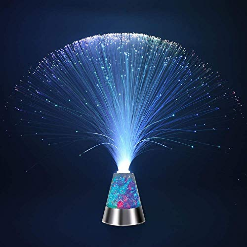 Weiduka Multicolor Fiber Optic Light Colourful Changing Lamp With Color-Changing Crystals