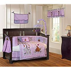 BabyFad Jungle Girl 10 Piece Baby Crib Bedding Set