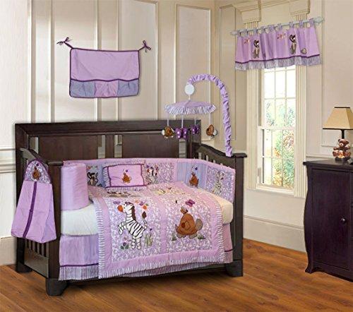 BabyFad-Jungle-Girl-10-Piece-Baby-Crib-Bedding-Set