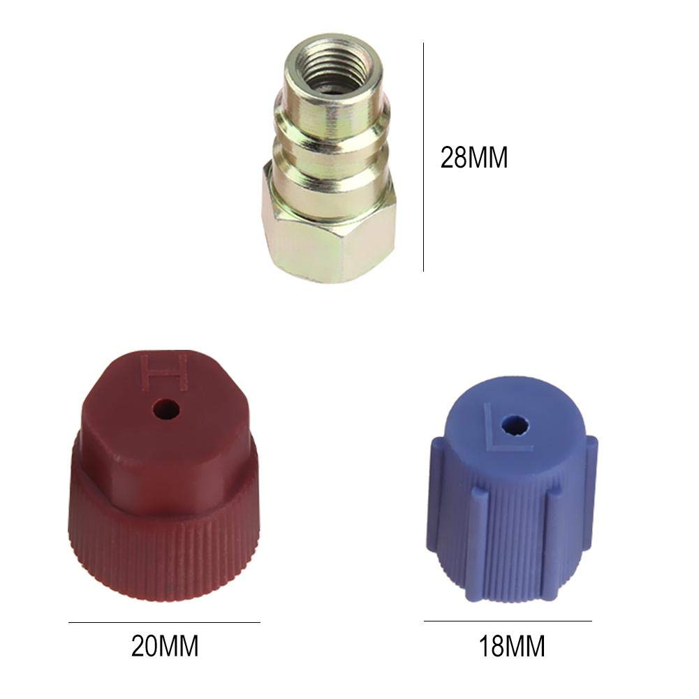 UEB Car A//C R-12 to R-134a Retrofit Conversion Adapter Kit Fitting with 7//16 3//8 SAE Valves