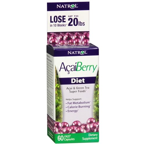 Natrol Acai Berry Diet, Fast Capsules 60 ea(Pack of (Acai Berry Diet)