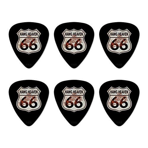 - Hawg Heaven Route 66 Highway Hog Biker Motorcycle Novelty Guitar Picks Medium Gauge - Set of 6