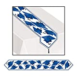 Club Pack of 12 Blue Celebration Grad Cap Table Runner 6'