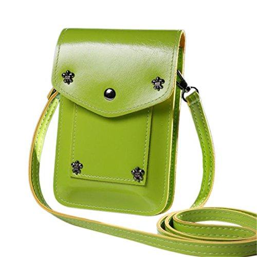 Mini Taille à sac beige unique à sac bandoulière Green Femmes main d0qwX4Idx