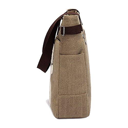 bag Khaki cat R Women's handbag cute messenger shopping shoulder small canvas handbag TOOGOO with Women's bag qBZwZCp6