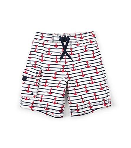 Hatley Little Boys' Board Shorts, Sea Anchors, 3 Years