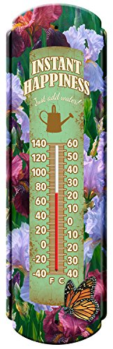 Reflective Art Garden Vintage Style Tin Thermometers, 5