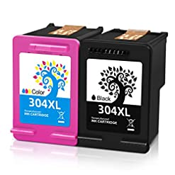 H&BO TOPMAE Remanufactured Ink Cartridge Replacement for HP 304XL 304 XL Use with Deskjet 2630 2632 3720 2622 3750 3760…