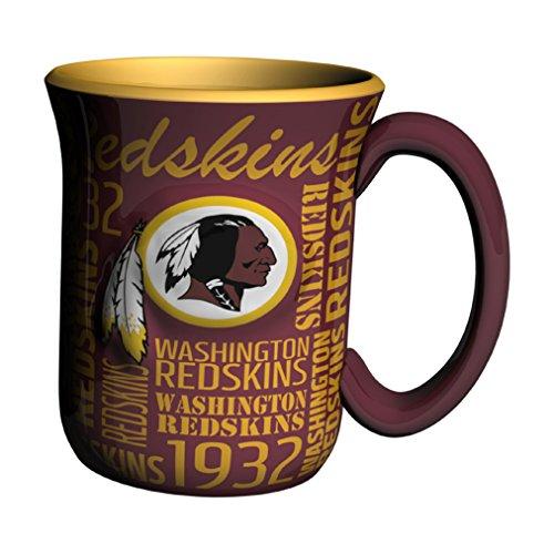 (NFL Washington Redskins Sculpted Spirit Mug, 17-ounce, Burgundy)