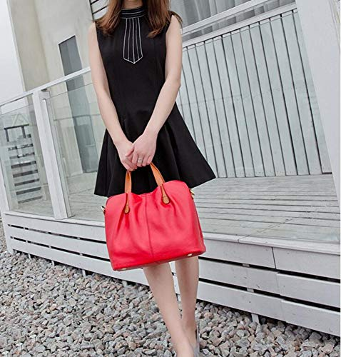 Fashion Hongge Baotan Layer Handbag Leather C Baotou Female Cowhide Shoulder Mother Oblique HHdrwFxq4