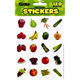 Paper Magic 655033 Eureka Fruits and Vegetables Photos Stickers