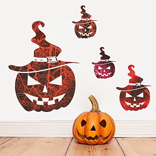 OTTATAT Wall Stickers for Kitchen 2019,Happy Halloween Household