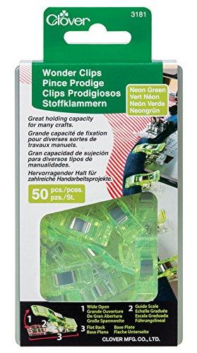 Clover 50 Piece Wonder Clips Green