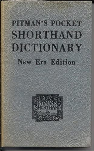 Pitman S Pocket Shorthand Dictionary Isaac Pitman Pitman
