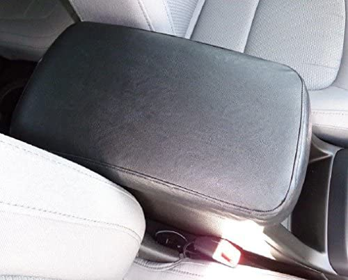Center Console Armrest Cover Leather Synthetic fits Nissan Frontier 05-19 Gray