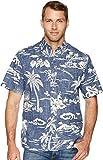 Reyn Spooner Men's My Private Isle Kloth Classic Fit Hawaiian Shirt, Ink, L
