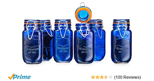 3331441a9141 Amazon.com: Elegant Home Airtight Glass Spice Jar Hermetic Seal Bail ...