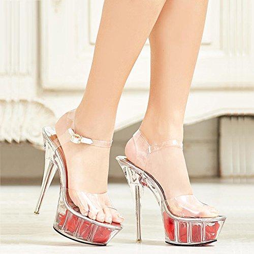 Moda Con Toe High Crystal Bodas Heels EU YMFIE 35 Dedos de Talones Banquete Sandalias UE 37 Crystal Finos Parte xd0nHAqwt