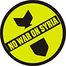 No War On Syria Anti-War Peace Political Commentary - Button / Pinback