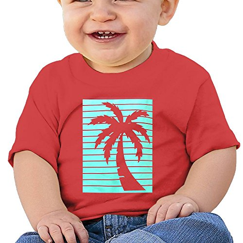 Quxueyuannan California Republic Turquoise Palm Washed Cotton Baby Boy Shirt Cute Summer T Shirt Funny