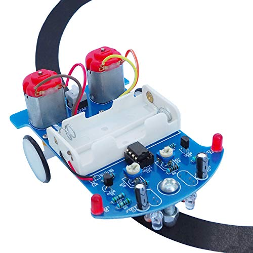 Soldering Project kit Solder Learning for School Electronic Education, Great Fun Gift for Family Friend (D2-5 Smart Car Kit)
