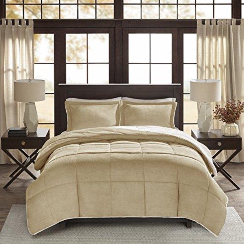 - Madison Park Jackson Corduroy Reverse to Berber Comforter Mini Set, King/ California King, Tan
