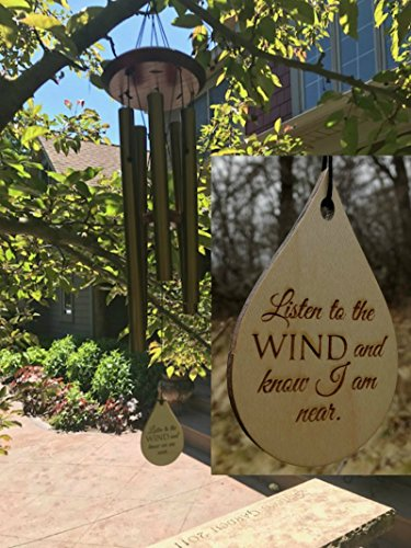 Memorial TOP rated Wind Chime Teardrop PRIME Rush Shipping for Funeral Loss in Memory of Loved One Copper Wind Chime for Memorial Garden Remembering a…