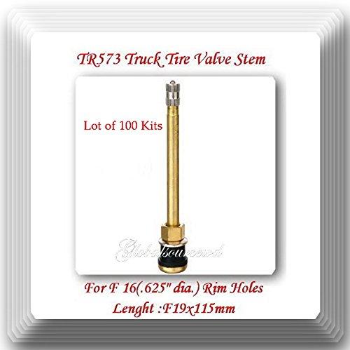 (Lot of 100 Kits) TR573 Truck Tire Valve Stem Wheels 22.5/24.5 For Rim Φ.625''.Holes L:4.527'' = 115 mm by VPro