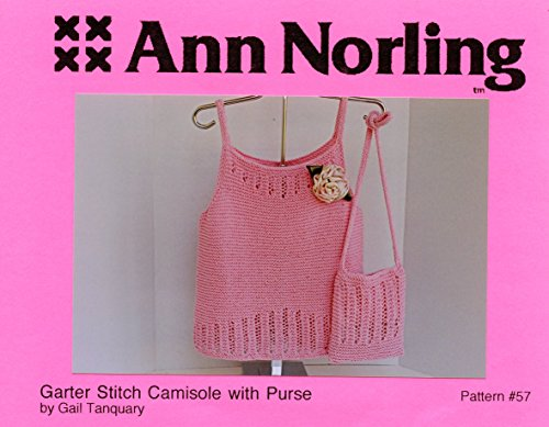 Ann Norling Knitting Pattern #57 Garter Stitch Camisole with Purse