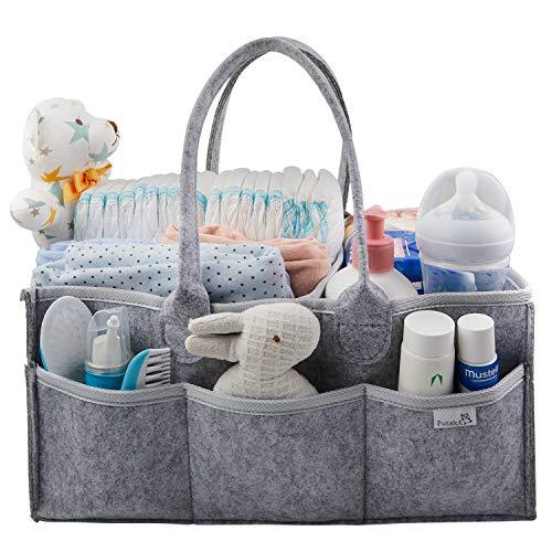 Putska Baby Diaper Caddy Organizer - Gift Registry for Baby Shower, Nursery Organizer, Neutral Baby Gift Basket, Changing Table Organizer (Diaper Caddy) ()