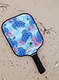 Eastport Pickleball Paddle, USAPA Approved, Blue Turtle in Blue Sea - Pickleball's Poshest Paddle
