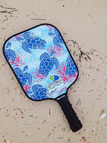 Eastport Pickleball Paddle, USAPA Approved, Blue Turtle in Blue Sea - Pickleball's Poshest Paddle by Eastport Pickleball